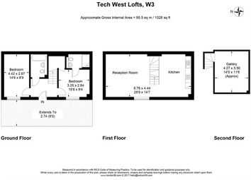 Thumbnail 2 bedroom terraced house to rent in Tech West Lofts, 4 Warple Way, Acton, London