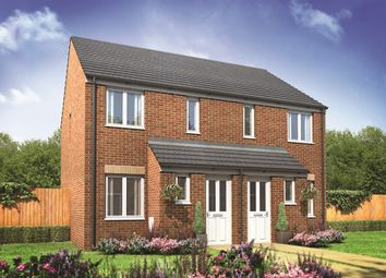 "Thumbnail 2 bed semi-detached house for sale in ""The Alnwick"" at Lime Avenue, Oulton, Lowestoft"