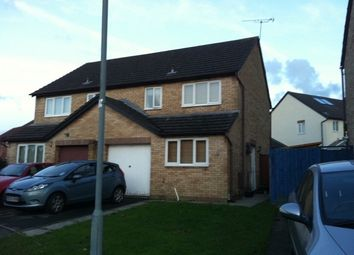 Thumbnail 3 bed semi-detached house to rent in Ffordd Butler, Gowerton, Swansea.