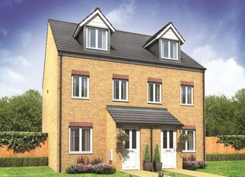 "Thumbnail 3 bedroom town house for sale in ""The Souter "" at Fellows Close, Weldon, Corby"