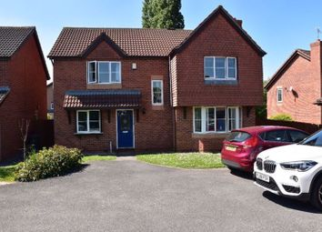 Thumbnail 4 bed detached house for sale in Herongate Road, Leicester