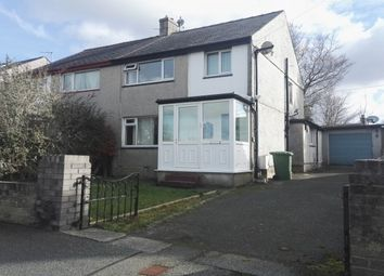 Thumbnail 3 bed semi-detached house to rent in Y Rhos, Bangor