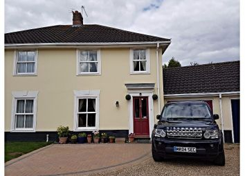 Thumbnail 3 bedroom semi-detached house for sale in Cranesbill Drive, Bury St. Edmunds