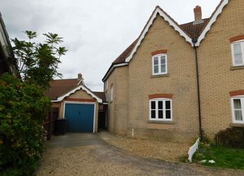 Thumbnail 3 bed semi-detached house to rent in Bramble Way, Wymondham, Norfolk