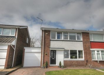 Thumbnail 3 bed semi-detached house for sale in Gracefield Close, Chapel Park, Newcastle Upon Tyne