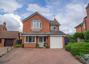 Thumbnail 4 bed detached house for sale in Weston Close, Oadby, Leicester