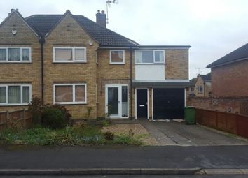 Thumbnail 4 bed semi-detached house to rent in Silverton Road, Oadby, Leicester