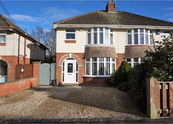 Thumbnail 3 bed semi-detached house for sale in Draycott Avenue, Taunton