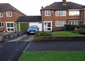 Thumbnail 3 bed semi-detached house to rent in Queens Avenue, Shirley, Solihull