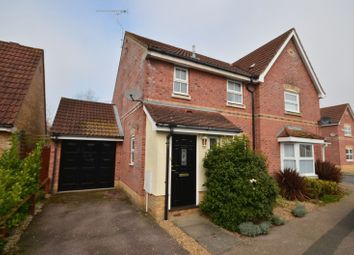 Thumbnail 3 bed semi-detached house for sale in Desborough Way, Thorpe St. Andrew, Norwich