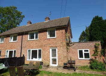 Thumbnail 3 bed semi-detached house to rent in Burrough Green, Newmarket