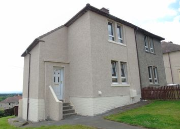 Thumbnail 2 bed semi-detached house for sale in Burns Crescent, Gartlea, Airdrie, North Lanarkshire