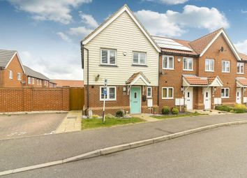 Thumbnail 3 bed semi-detached house for sale in Lewis Road, Hawkinge, Folkestone