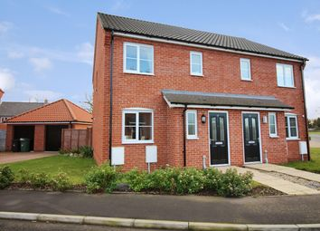 Thumbnail 3 bed semi-detached house for sale in Burnt Fen Way, Hoveton, Norwich