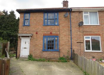 Thumbnail 3 bedroom end terrace house for sale in Foxley Close, Norwich