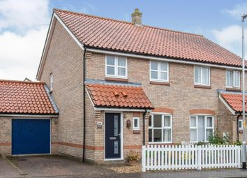 Thumbnail 3 bed semi-detached house for sale in Millers Drive, Dickleburgh, Diss