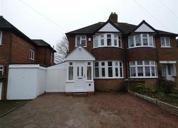 Thumbnail 3 bed semi-detached house for sale in Saxondale Avenue, Yardley, Birmingham