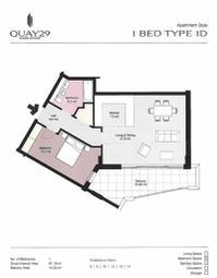 Thumbnail 1 bed apartment for sale in Quay 29, Gibraltar, Gibraltar