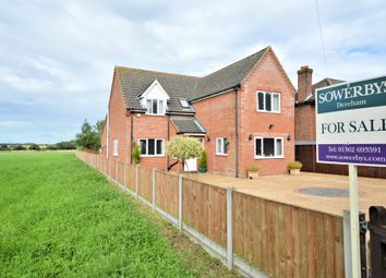 Thumbnail 4 bed detached house for sale in Dereham Road, Thuxton, Norwich