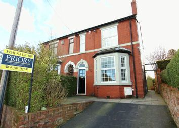 Thumbnail 3 bed semi-detached house for sale in Bull Lane, Brindley Ford, Stoke-On-Trent