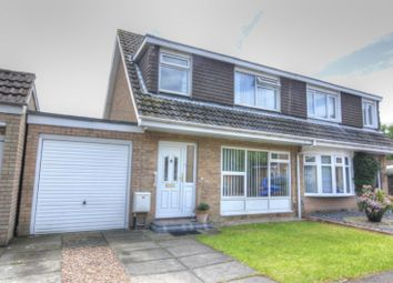 Thumbnail 3 bedroom semi-detached house for sale in Lynton Place, Blakelaw, Newcastle Upon Tyne