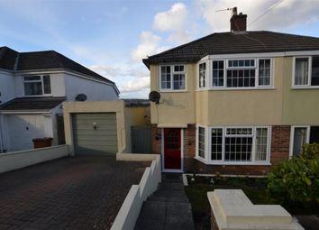 Thumbnail 3 bed semi-detached house for sale in Woodland Drive, Plympton, Plymouth, Devon