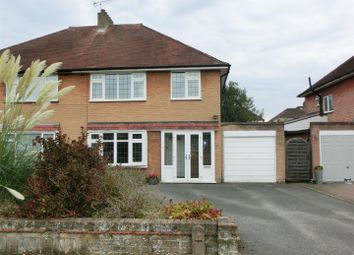 Thumbnail 3 bed semi-detached house for sale in Queens Avenue, Shirley, Solihull
