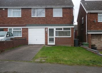 Thumbnail 3 bed end terrace house to rent in Harden Close, Ryecroft, Walsall