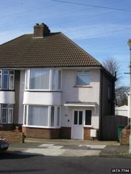 Thumbnail 3 bed semi-detached house to rent in Melrose Avenue, Portslade, Brighton