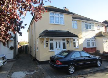 Thumbnail 4 bed semi-detached house for sale in Fernbank Avenue, Hornchurch, Essex