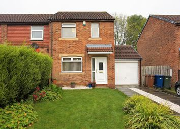 Thumbnail 3 bedroom end terrace house for sale in Milecastle Court, Newcastle Upon Tyne