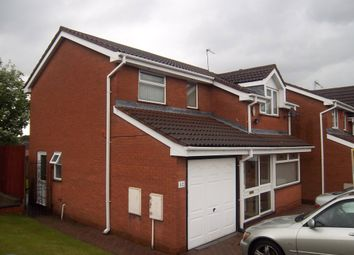 Thumbnail 4 bed detached house to rent in Byfleet Close, Bilston