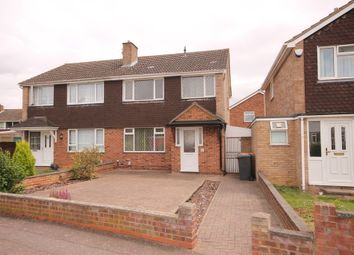 Thumbnail 3 bedroom semi-detached house for sale in Kimble Drive, Bedford