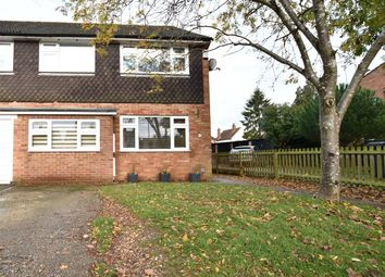 Thumbnail 4 bed semi-detached house for sale in Lambourne Close, Tilehurst, Reading