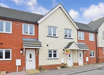 Thumbnail 2 bed terraced house for sale in Lewis Road, Hawkinge, Folkestone, Kent