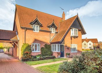 Thumbnail 4 bed detached house for sale in Mileham Drive, Aylsham, Norwich