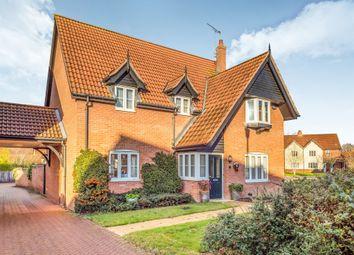Thumbnail 4 bedroom detached house for sale in Mileham Drive, Aylsham, Norwich