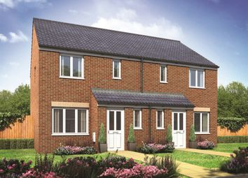 "Thumbnail 3 bed semi-detached house for sale in ""The Hanbury"" at Derwen View, Brackla, Bridgend"