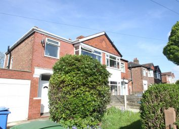 Thumbnail 3 bed semi-detached house to rent in Bradwell Avenue, Stretford, Manchester