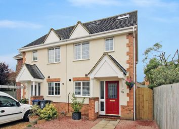 Thumbnail 3 bed semi-detached house for sale in Moat Way, Swavesey, Cambridge