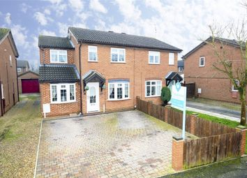 Thumbnail 3 bed semi-detached house for sale in Wensleydale Park, Corby, Northamptonshire