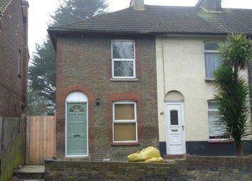 Thumbnail 2 bed end terrace house to rent in Stonebridge Road, Northfleet, Gravesend