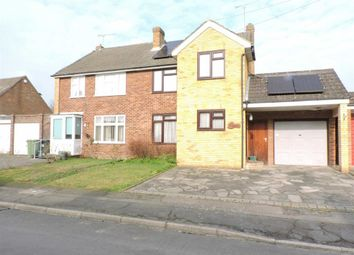 Thumbnail 3 bed semi-detached house for sale in Gaveston Close, Byfleet, Surrey