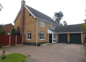 Thumbnail 4 bed detached house for sale in Johnson Way, Lowestoft