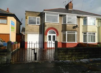 Thumbnail 4 bed semi-detached house for sale in Parkside Drive, Liverpool