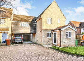 Thumbnail 3 bed link-detached house for sale in Folkard Close, Long Stratton, Norwich