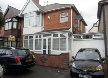 Thumbnail 3 bedroom semi-detached house for sale in Eileen Road, Sparkhill, Birmingham
