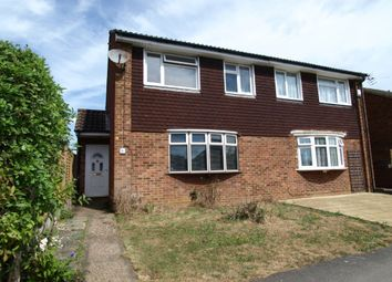 Thumbnail 3 bed semi-detached house for sale in Herriot Close, Newport Pagnell, Buckinghamshire