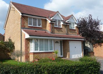 Thumbnail 4 bed detached house for sale in Redwoods, Addlestone