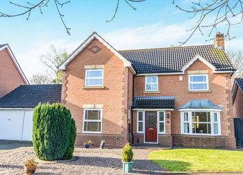 Thumbnail 4 bed detached house for sale in Swanholme Close, Lincoln